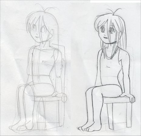 how to draw someone sitting on the ground